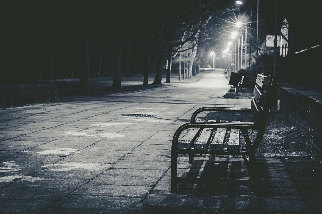 empty street in night